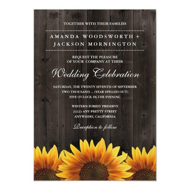 Barn Wood  Rustic Sunflower Wedding