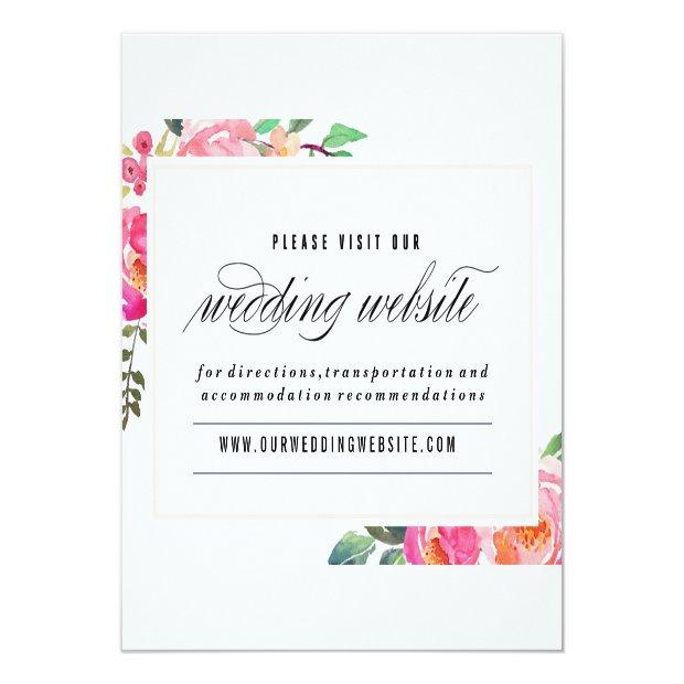 Bohemian Floral Wedding Website Invitation