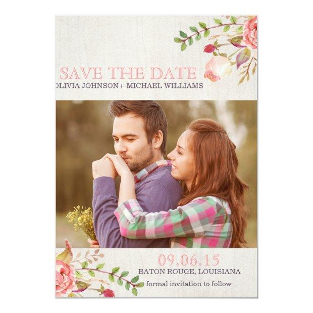 Bohemian Watercolor Skull Save The Date Invitationss
