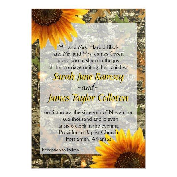 Camo & Sunflower Wedding