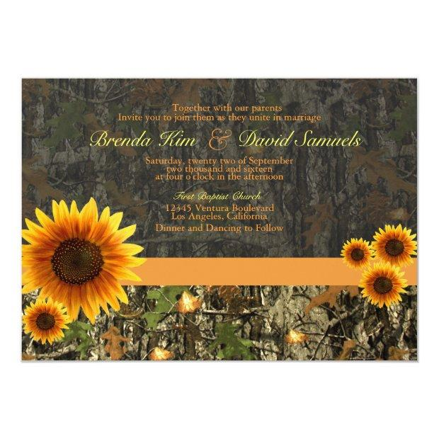 Camo Sunflowers Wedding