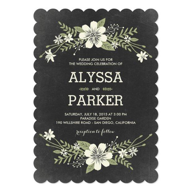 Chalkboard Blooms Wedding