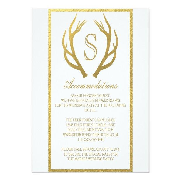 Chic Gold | Antler Wedding Accommodation