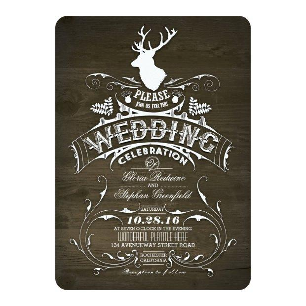 Country Rustic Deer Wedding