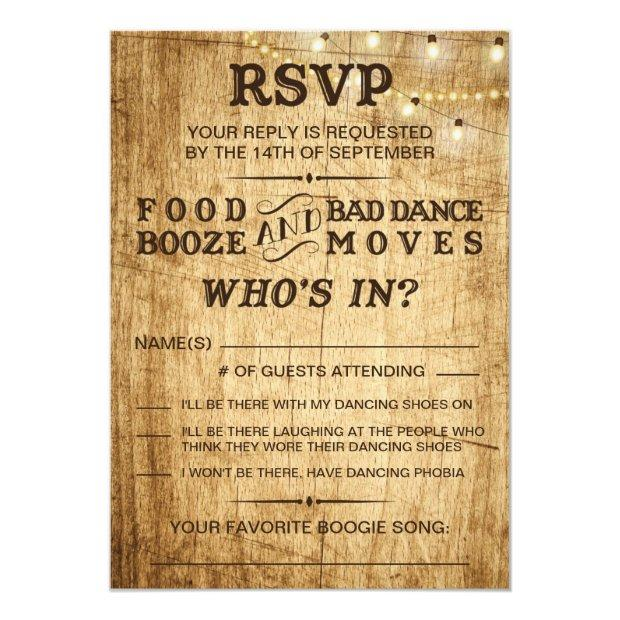 Country Wedding Rsvp For Rustic Wedding Invitationss