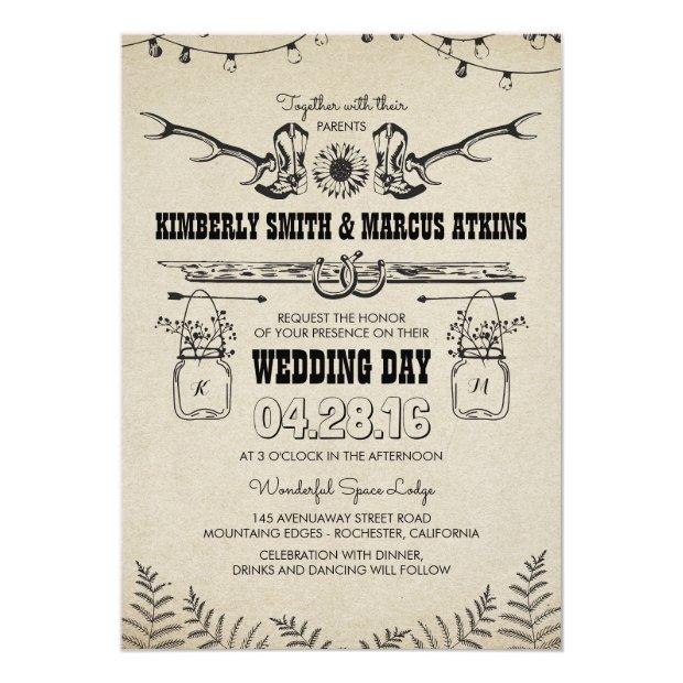 Cowboy Boots Sunflower Country Rustic Barn Wedding