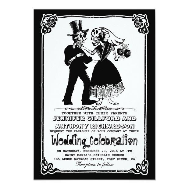 Dead Skeleton Couple Wedding