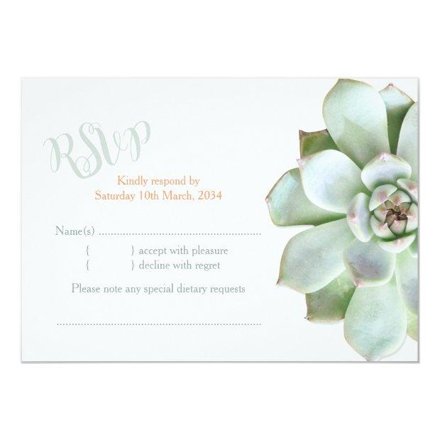 Elegant Country Succulent Wedding Rsvp