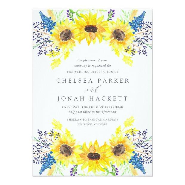 Flowerfields Wedding Invitation