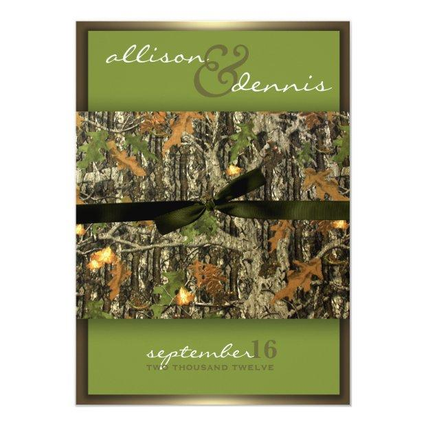 Lavish Camo Wedding Invitationss