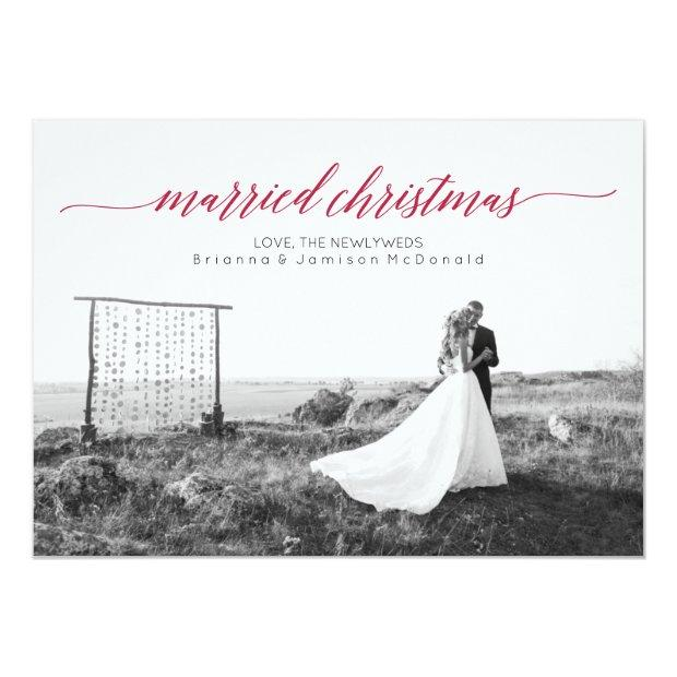 Married Christmas Newlywed Photo Invitation