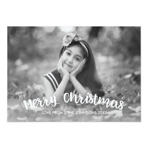 Modern Christmas Holiday Photo Invitation