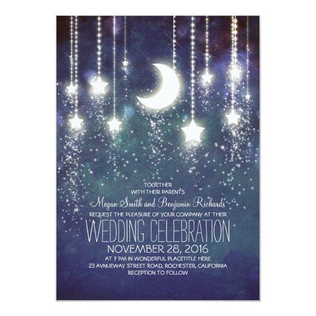 Moon Stars & String Lights Wedding
