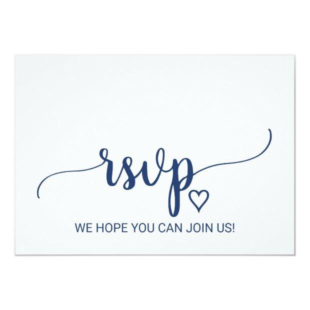 Navy Blue Simple Calligraphy Song Request Rsvp Invitationss