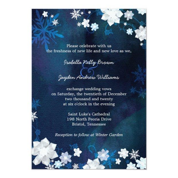 Navy Blue Winter Bohemian Wedding