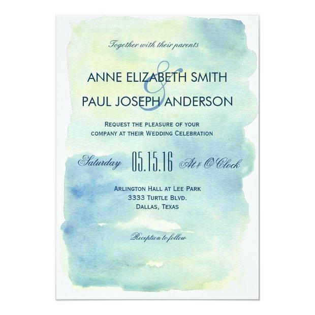 Ocean Watercolor Wedding