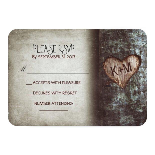 Old Tree Rustic Wedding Rsvp
