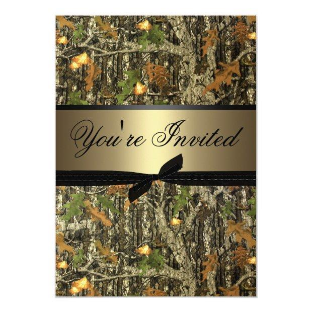 Plain Camo Wedding Invitations