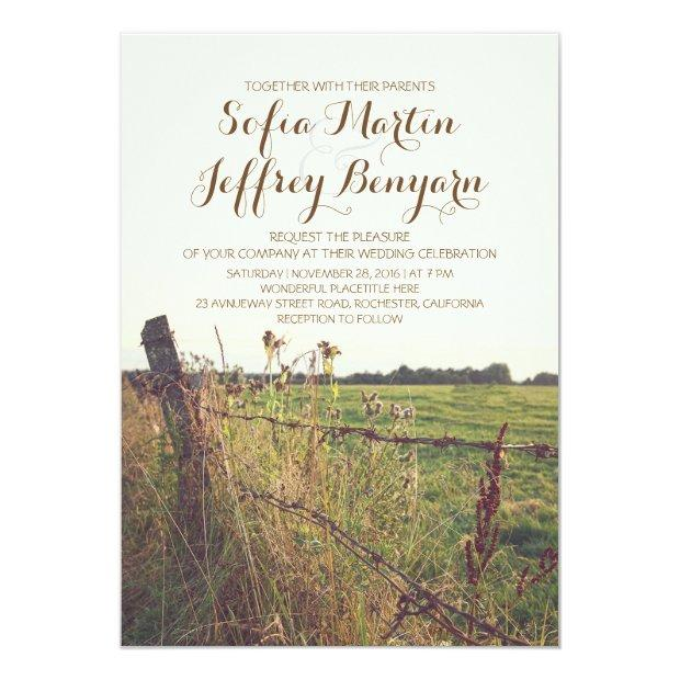 Rural Fence Country Rustic Wedding