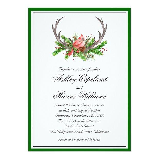 Rustic Antlers And Inal Wedding