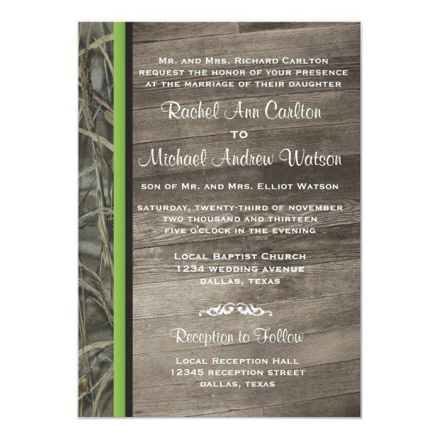 Rustic Camo Wedding Invitation