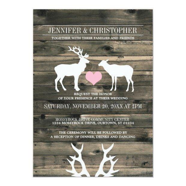 Rustic Country Buck And Doe Wedding