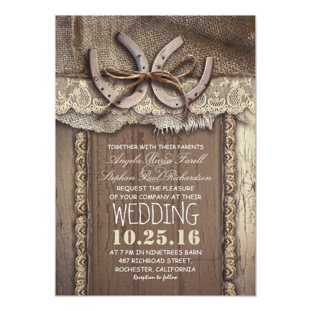 Rustic Country Wedding Invitationss