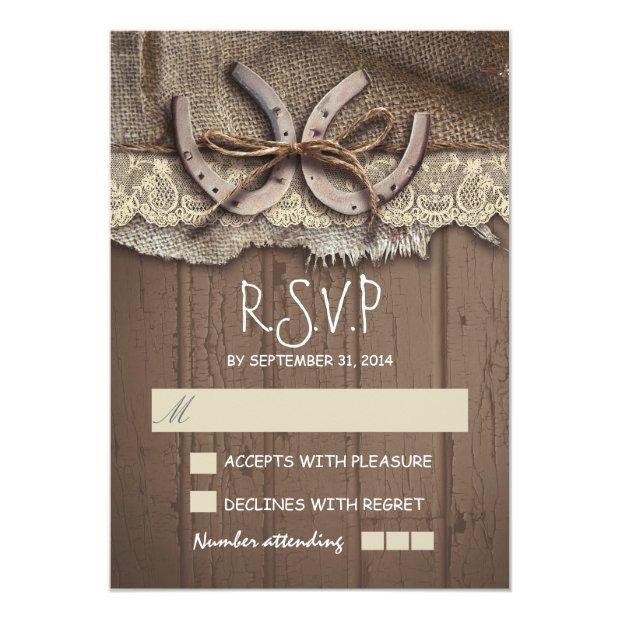 Rustic Country Wedding Rsvp Invitationss