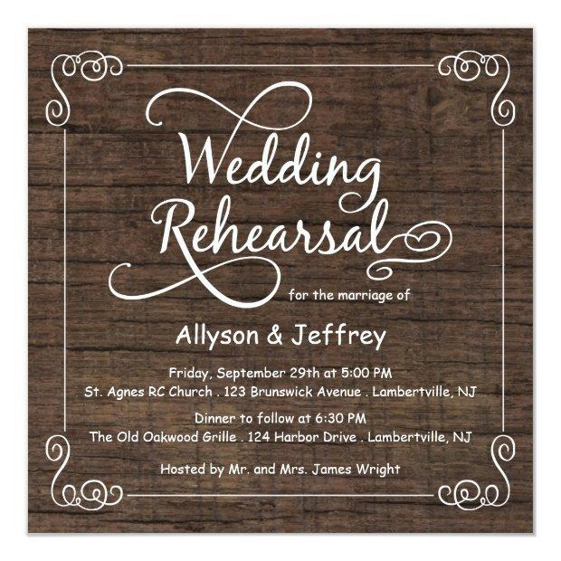 Rustic Wood Wedding Rehearsal Dinner