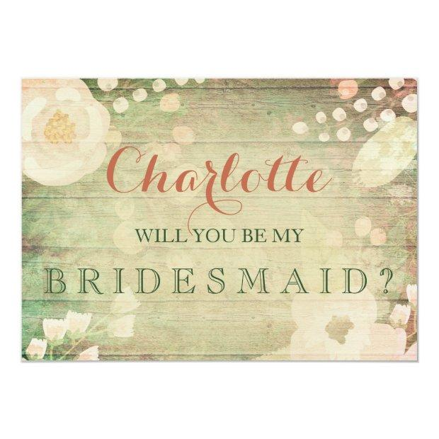 Shabby Chic Florals | Will You Be My Bridesmaid