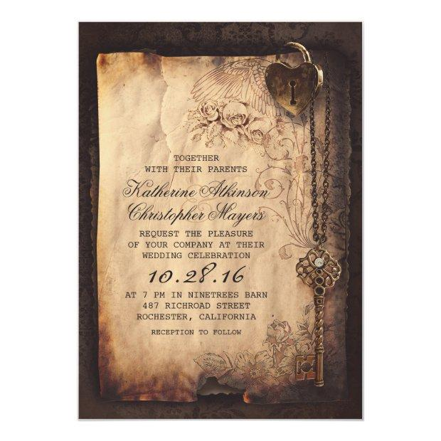 Skeleton Key Vintage Wedding
