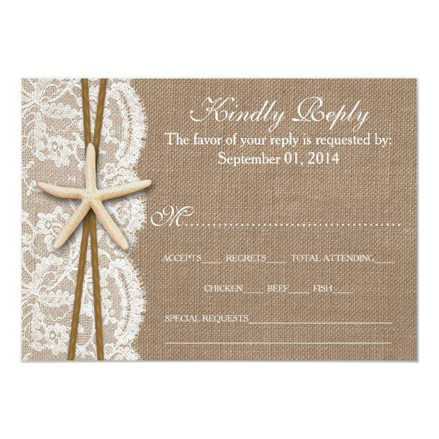 The Rustic Starfish Wedding Collection Rsvp Invitationss