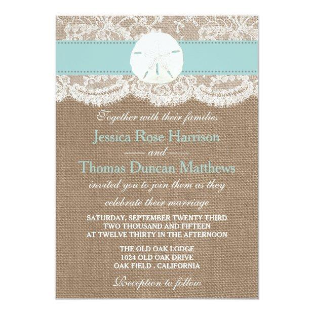The Turquoise Sand Dollar Beach Wedding Collection