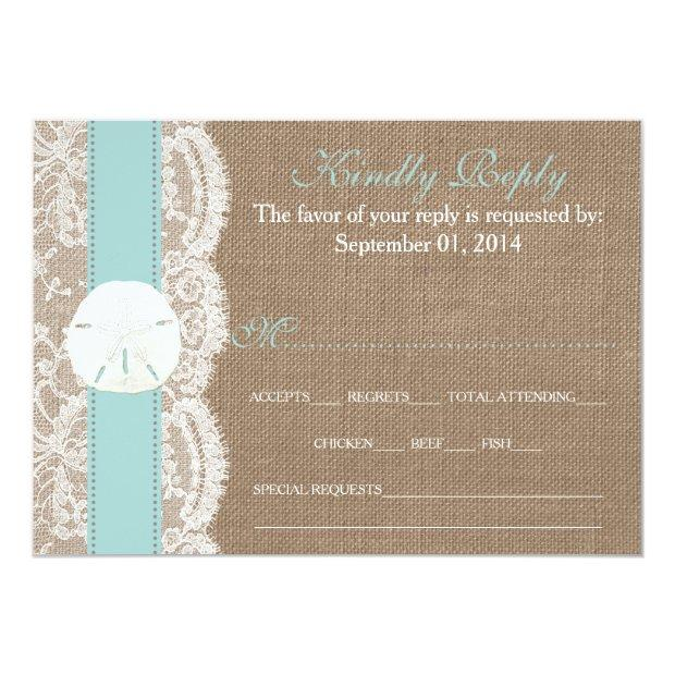 The Turquoise Sand Dollar Wedding Collection Rsvp Invitationss