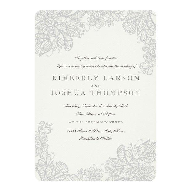 Vintage Lace Wedding Invitationss