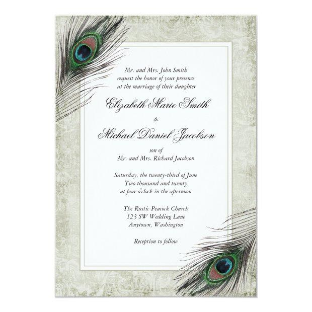 Vintage Peacock Feathers Wedding