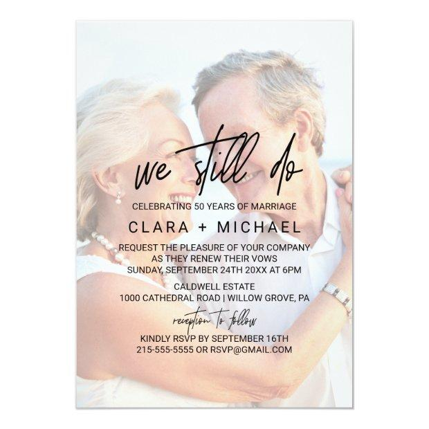 Whimsical Calligraphy   Faded Photo Vow Renewal