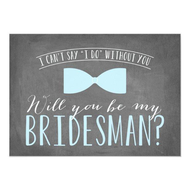 Will You Be My Bridesman? Invitation