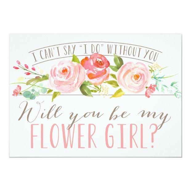 Will You Be My Flower Girl | Bridesmaid Invitationss