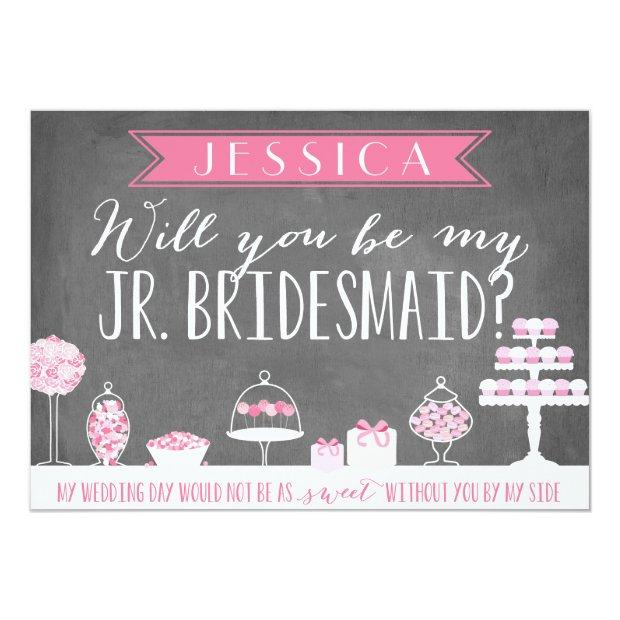 Will You Be My Junior Bridesmaid | Bridesmaid Invitationss