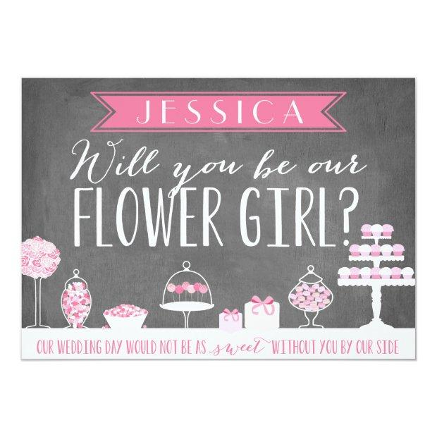 Will You Be Our Flower Girl | Bridesmaid Invitationss