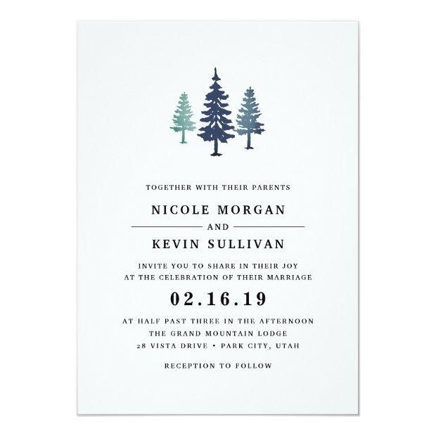 Winter Forest Wedding Invitations