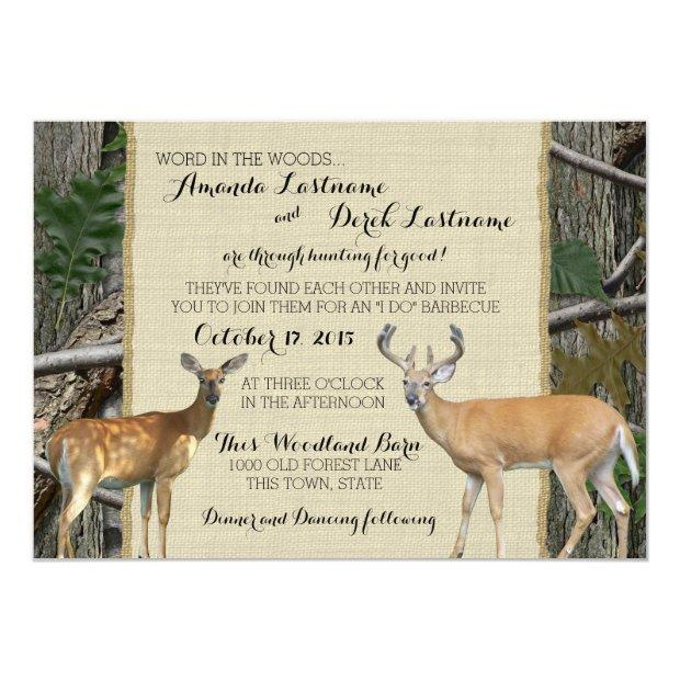 Woodland Buck And Doe Wedding