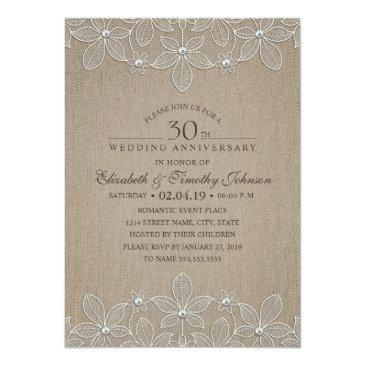 30th wedding anniversary party rustic pearl lace