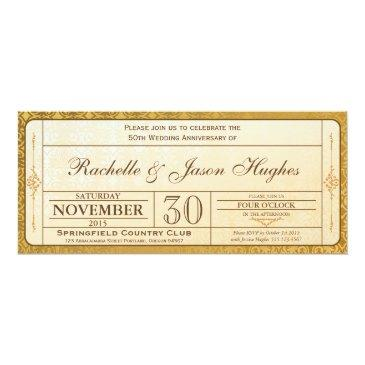 50th gold wedding anniversary  ticket