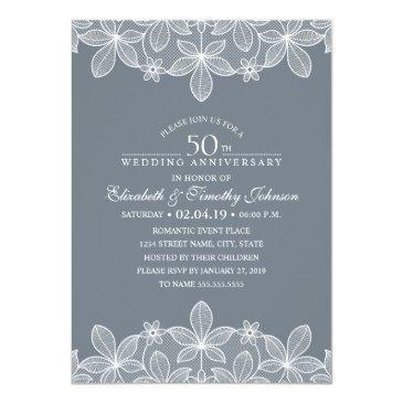 Small 50th Wedding Anniversary Elegant Luxury Lace Front View
