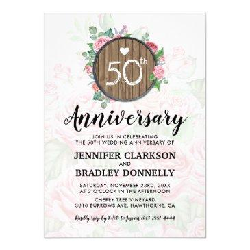 50th wedding anniversary rustic country floral