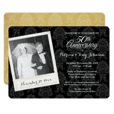 50th wedding anniversary with vintage photo