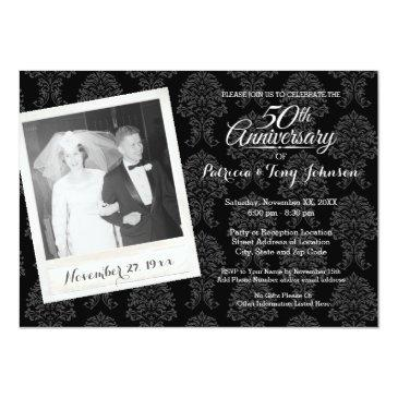 Small 50th Wedding Anniversary With Vintage Photo Front View