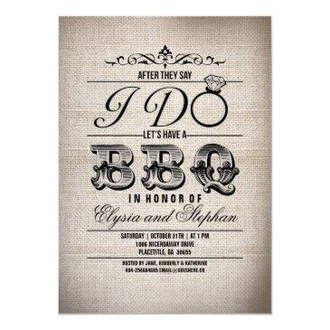 Small After They Say I Do Lets Have A Bbq Invite Front View